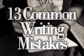 13 Common Writing Mistakes